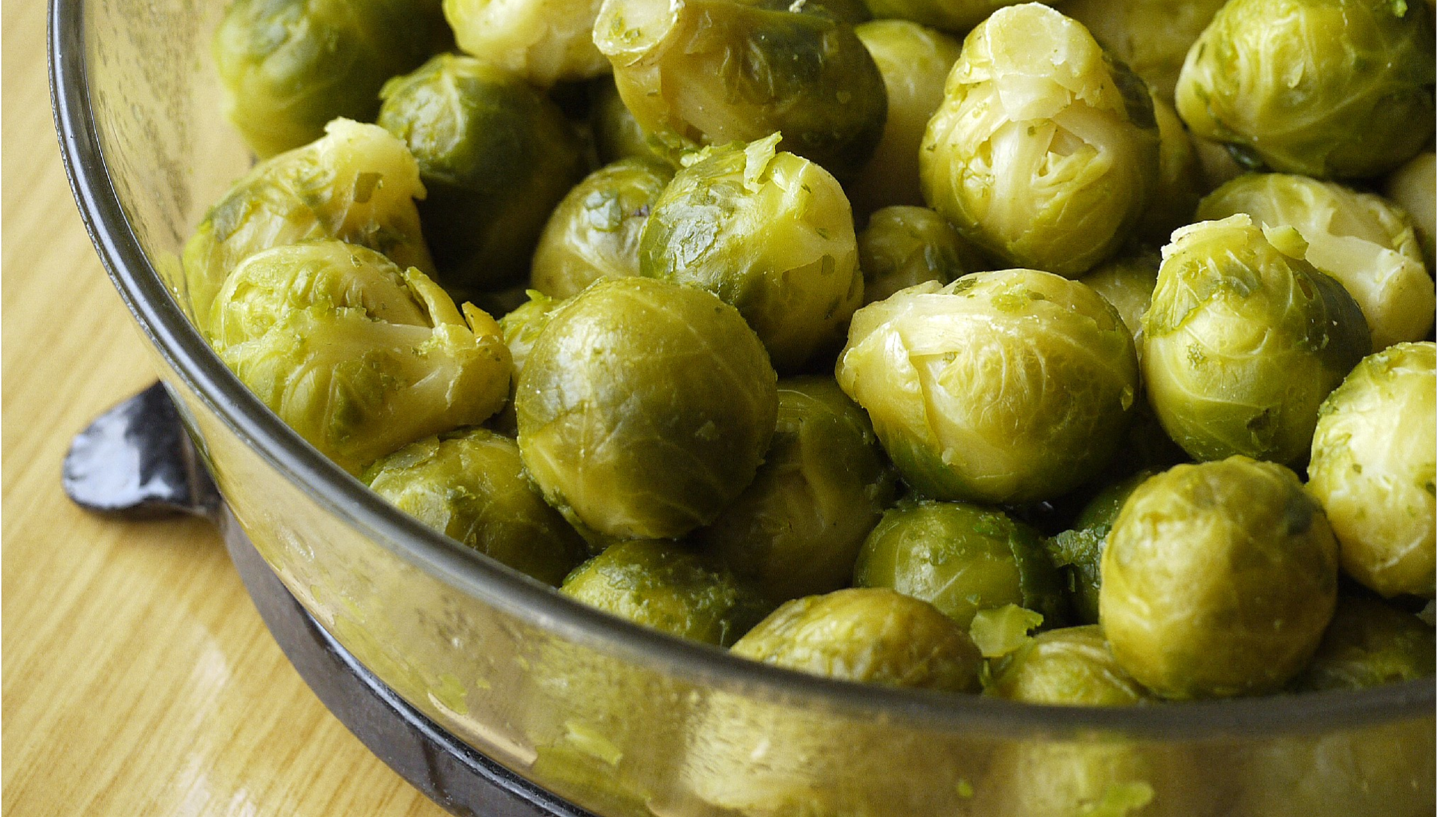 Brussels sprouts make a delicious and colorful gluten free side dish.
