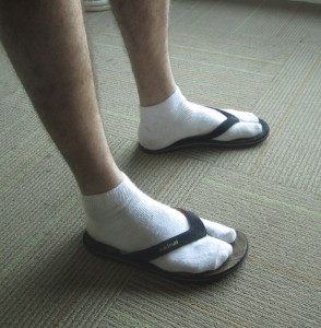 Socks flipflops