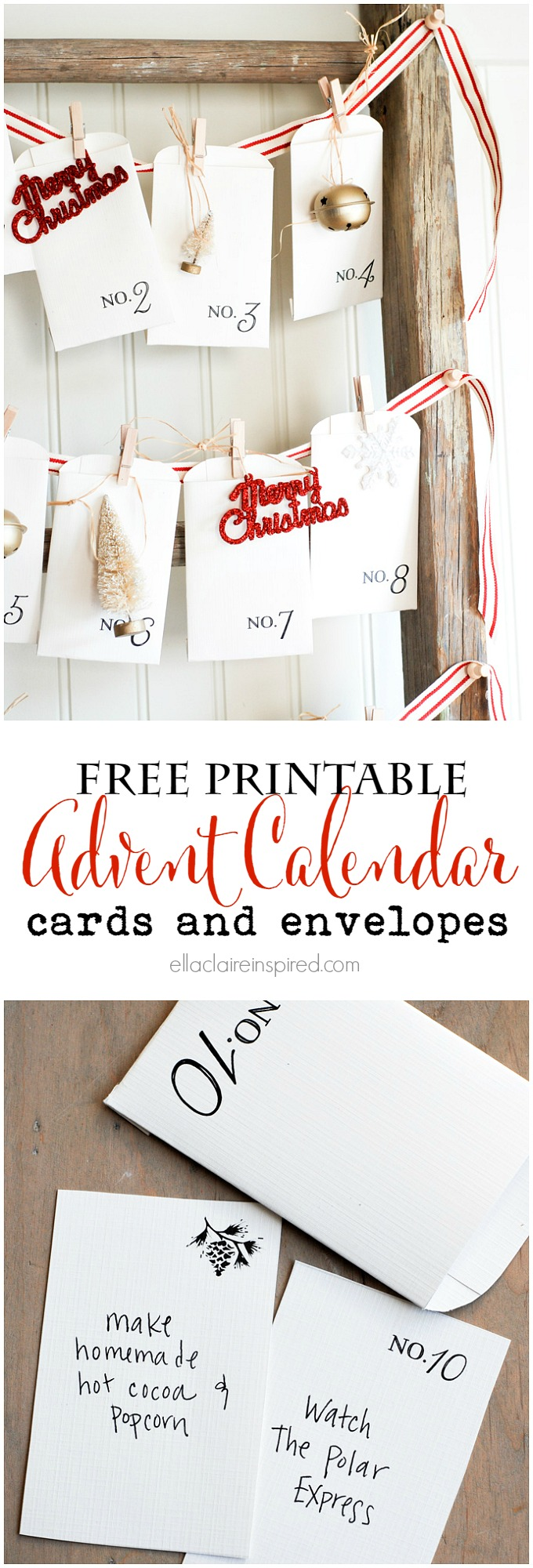 free printable advent calendar