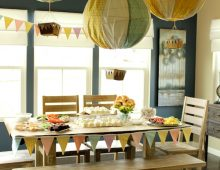 You Can Do This! DIY Hot Air Balloons from Fabric Paper Glue