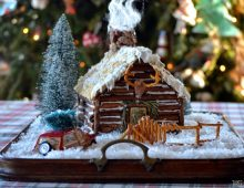 Gingerbread House DIY from Three Pixie Lane