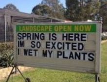Spring is here.