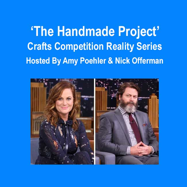 the handmade project crafts competition reality series hosted by amy poehler nick offerman. Black Bedroom Furniture Sets. Home Design Ideas
