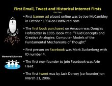 First email, Tweet and Historical Internet Firsts (Part Two)