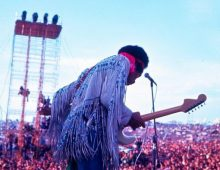 Jimi Hendrix at Woodstock, Forty years ago, on Aug. 18, 1969