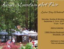 Kings Mountain Art Fair – September 2, 3 & 4, 2017