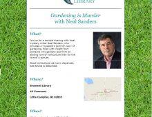 """Gardening is Murder,"" with Neal Sanders"