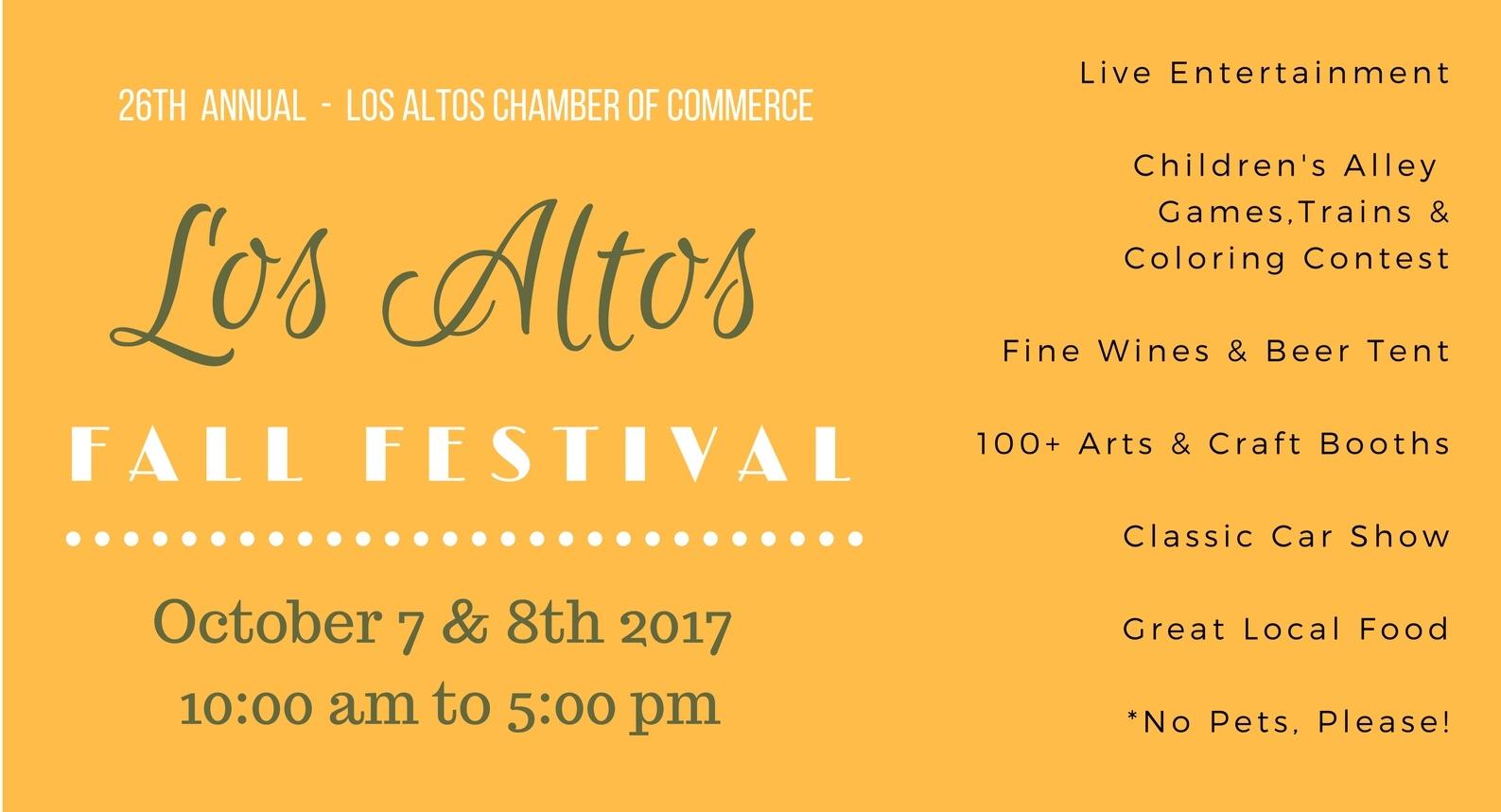 Los Altos Fall Festival & Classic Car Show: Oct 7-8