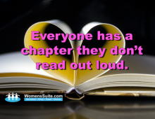 Everyone has a chapter they don't read out loud.