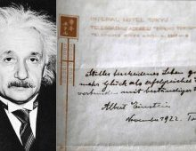 Albert Einstein's theory of happiness sold for $1.5m (£1.19m)