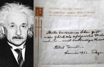 Albert Einstein's theory of happiness sold
