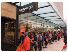 Amazon Go entire premise is you won't have to wait in line.