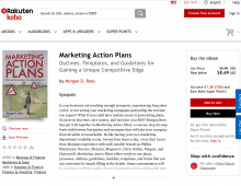 """Marketing Action Plans"" by Morgan Rees is available -- at Kobo-eBooks:"