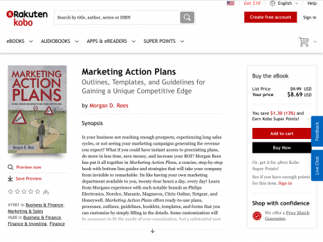"Marketing Action Plans"" by Morgan Rees is available at Kobo-eBooks:"