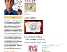 """""""Marketing Action Plans"""" by Morgan Rees is available — at Amazon Books"""