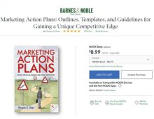 """""""Marketing Action Plans"""" by Morgan Rees is available — at Barnes and Noble"""