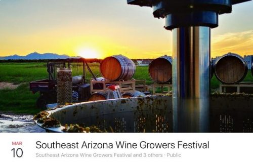 Southeast Arizona Wine Growers Festival – 2018 March 10 - March 11
