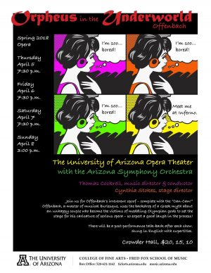 "UA Opera Theater with the Arizona Symphony Orchestra: ""Orpheus in the Underworld"" by Jacques Offenbach"