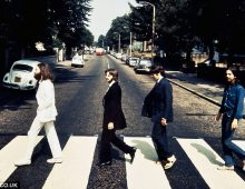 Rare 'backwards' Beatles Abbey Road photograph