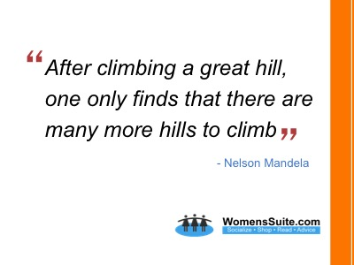 After climbing a great hill, one only finds that there are many more hills to climb