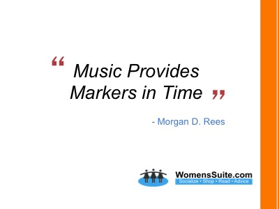 Music Provides Markers in Time