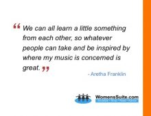 We can all learn a little something from each other, so whatever people can take and be inspired by where my music is concerned is great.