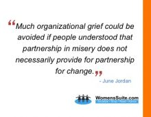 Much organizational grief could be avoided if people understood that partnership in misery does not necessarily provide for partnership for change.