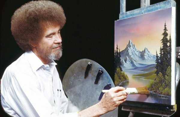 Bob Ross Is Making A Happy Little Comeback At Public Library Paint Nights