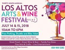 Los Altos Arts & Wine Festival 2018:  7/14/18 – 7/15/18