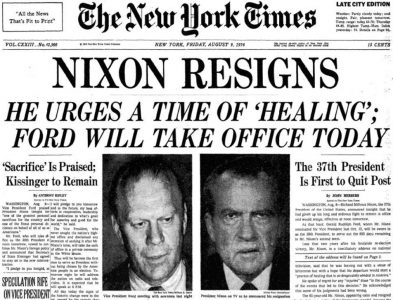 Nixon Resigns - August 8, 1974 - This Day in History