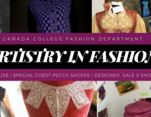 Artistry in Fashion event, Sept. 29, at Cañada College