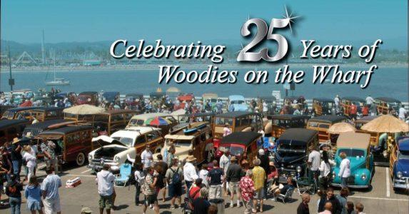 Woodies on the Santa Cruz Wharf - 25th Anniversary