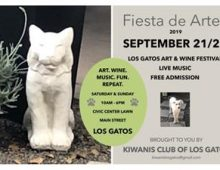 Los Gatos Art and Wine Festival, Sept. 21-22, 2019