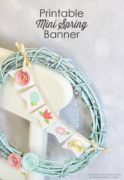 Spring Banner Free Printable