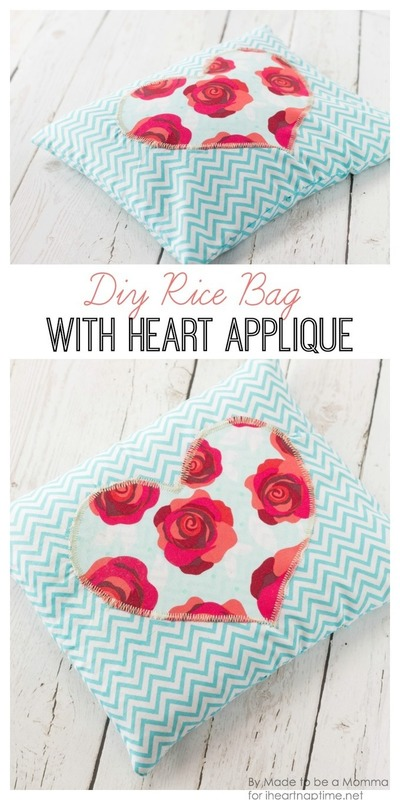 Diy Rice Bag with Heart Detail