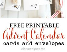Free Printable Advent Calendar from Ella Claire