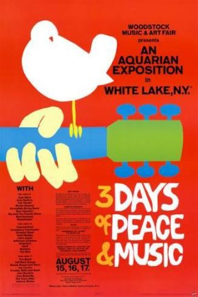 """Today we celebrate the 48th anniversary of the """"Woodstock Music & Art Fair""""."""