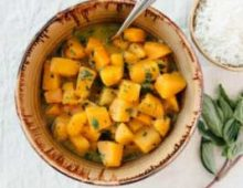 Fall Recipe, Butternut Squash in Green Curry