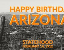 Arizona became a state 109 years ago today.