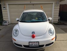 Holiday Car Decorations Creates Aerodynamic Drag.
