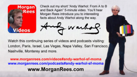 """Andy Warhol: From A to B and Back Again"""" 5-minute 13 seconds video and/or podcast."""