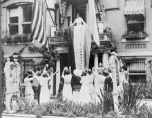 US celebrating the 100th anniversary of the 19th Amendment and women's constitutional right to vote.
