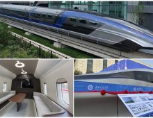 China Debuts Its New Streamlined 380 mph Maglev Bullet Train